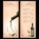 Wino bielu rama Royalty Ilustracja