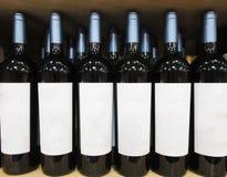 Wino butelek zbliżenie Obrazy Stock