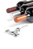 Wino butelki obraz stock