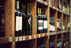Wino butelki Obraz Royalty Free