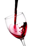 Wino butelki dolewanie - Akcyjny wizerunek zdjęcie royalty free