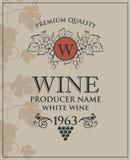 Wino butelki etykietka royalty ilustracja
