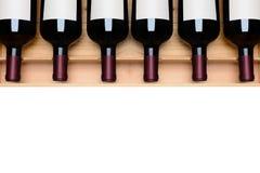 Wino butelki jeśli puste miejsce etykietki Fotografia Stock