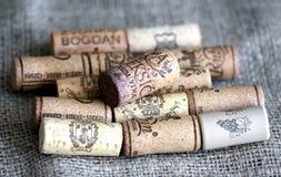 Wino butelki korki Obraz Stock