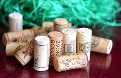 Wino butelki korki Fotografia Royalty Free