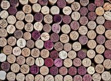 Wino butelki korki Obrazy Stock