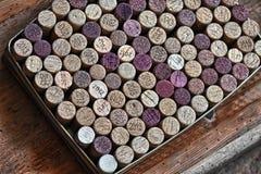 Wino butelki korki Obraz Royalty Free