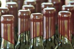 Wino butelki pieczętowali 3 Obrazy Royalty Free
