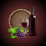 Wino czerwieni sztandar Ilustracji