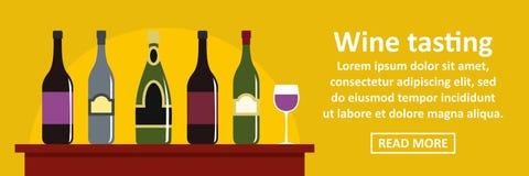 Wino degustaci sztandaru horyzontalny pojęcie ilustracja wektor