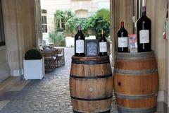 Wino degustacja przy bordami Obrazy Stock
