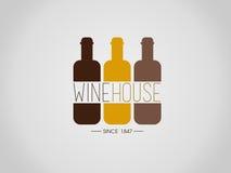 Wino dom Ilustracji