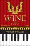 Wino etykietka Obrazy Royalty Free