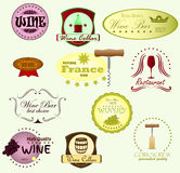 Wino etykietki Obrazy Royalty Free