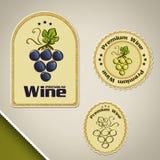 Wino etykietki Zdjęcia Stock