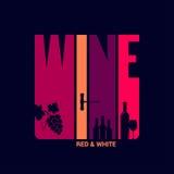 Wino etykietki projekta tło Fotografia Royalty Free