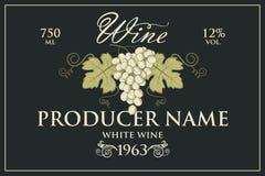 Wino etykietki ustawiać ilustracja wektor