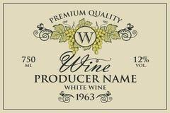 Wino etykietki ustawiać royalty ilustracja