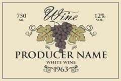 Wino etykietki ustawiać ilustracji