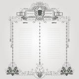 Wino graweruje starego menu Obraz Royalty Free