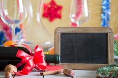 Wino i blackboard Obrazy Royalty Free