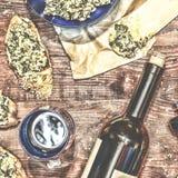 Wino i crostini Obraz Royalty Free