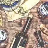Wino i crostini Zdjęcia Royalty Free