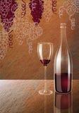Wino i gronowy wino Zdjęcie Royalty Free
