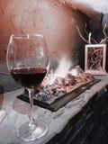 Wino i ogień obraz royalty free