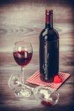 Wino i serce Zdjęcia Stock