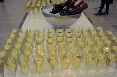 Wino i szampan Zdjęcia Stock