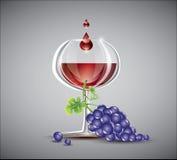 Wino i winogrona Fotografia Royalty Free