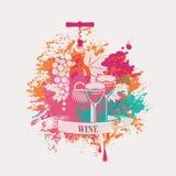 Wino i winogrona Obrazy Stock