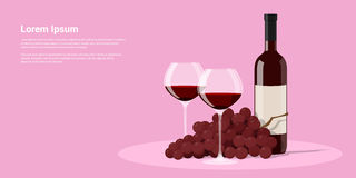 Wino i winogrona Obrazy Royalty Free