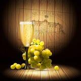Wino i winorośl royalty ilustracja