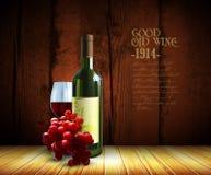 Wino i winorośl ilustracji
