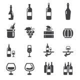 Wino ikona ilustracja wektor