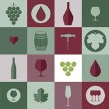 Wino Ikona set ilustracja wektor