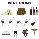 Wino ikony Zdjęcie Royalty Free