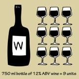 Wino Infographic Fotografia Stock