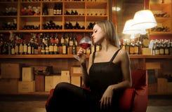 wino kobieta Fotografia Royalty Free