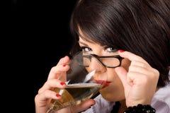 wino, kobiety Obrazy Stock