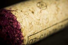 Wino korek w szczególe Fotografia Royalty Free