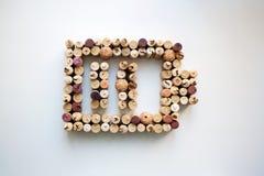 Wino korków ładunku pozioma abstrakta bateryjny skład obrazy stock