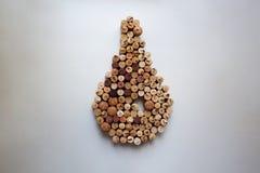 Wino korków kropli kształtny skład zdjęcie stock