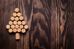Wino korków kształtna choinka Obrazy Royalty Free