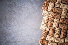 Wino korków rabatowy tło Obraz Royalty Free