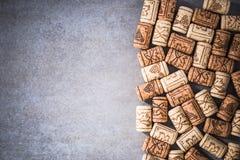 Wino korków rabatowy tło Fotografia Royalty Free