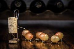 Wino korka postacie, pojęcie fotografia royalty free