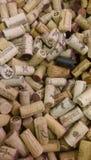 Wino korki Zdjęcia Stock